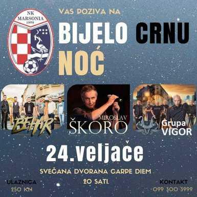 NK Marsonia Slavonski Brod organizira Bijelo- crnu noć