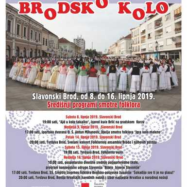 55. Brodsko kolo: Večeras revija narodnih nošnji i izbor najljepše Hrvatice