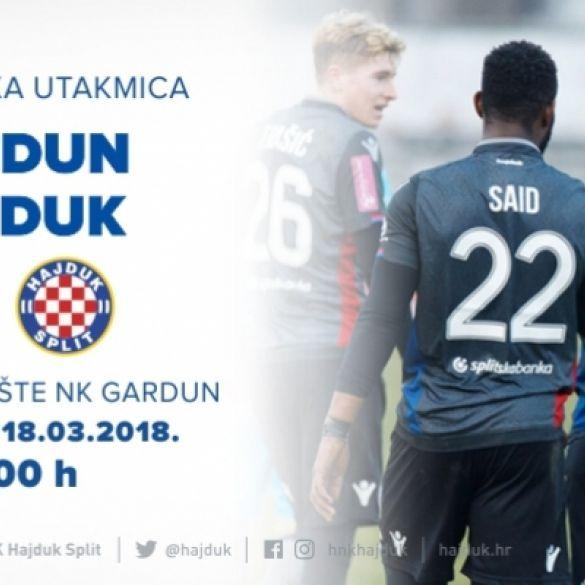 Odgođena prijateljska utakmica između Hajduka i Garduna