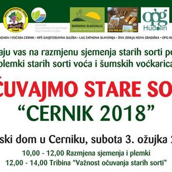 Danas u Cerniku tradicionalna manifestacija 'Sačuvajmo stare sorte'