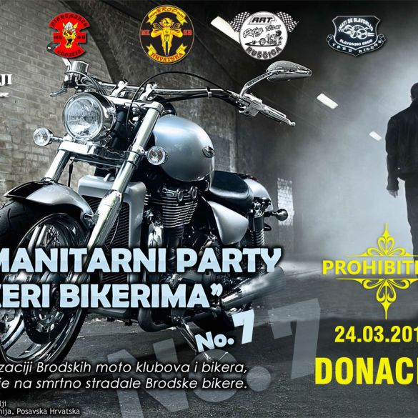 Sedmi humanitarni party 'Bikeri bikerima' 24. ožujka u 'Prohibitionu'