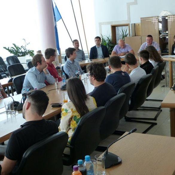 Radni sastanak studenata i župana Marušića