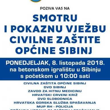 Smotra i pokazna vježba civilne zaštite u općini Sibinj