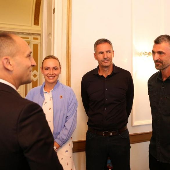Osječko baranjski župan primio najbolje hrvatske tenisače