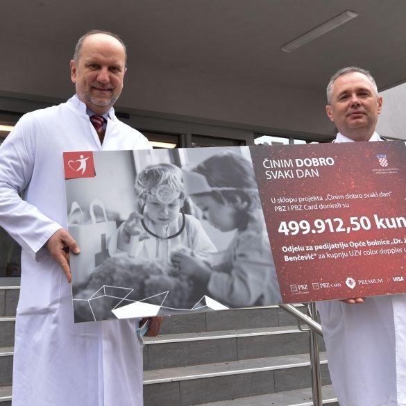 PBZ grupa donirala pola milijuna kuna odjelu pedijatrije brodske bolnice