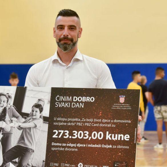 PBZ Grupa pomogla obnovu dvorane Doma za odgoj djece i mladeži Osijek