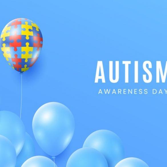 Plavi baloni u znak podrške osobama s autizmom