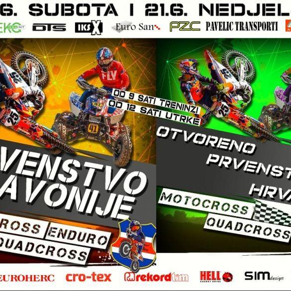 Za vikend u Malinu prvenstvo Slavonije u Motocross, Quadcross i Enduro disciplinama