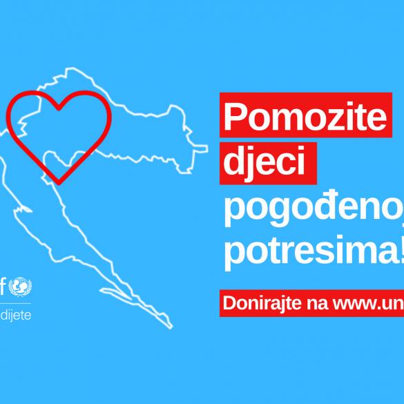 UNICEF pokrenuo kampanju za pomoć pogođenima potresima