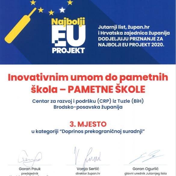 Projekt Brodsko-posavske županije među najboljim europskim projektima