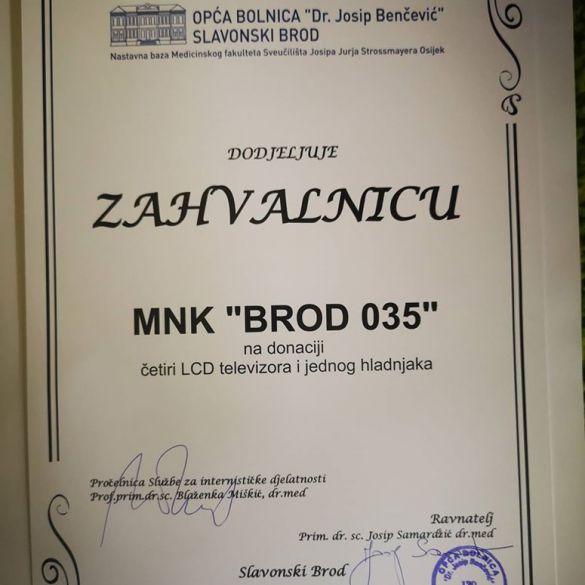 Nova donacija MNK Brod 035 slavonskobrodskoj bolnici