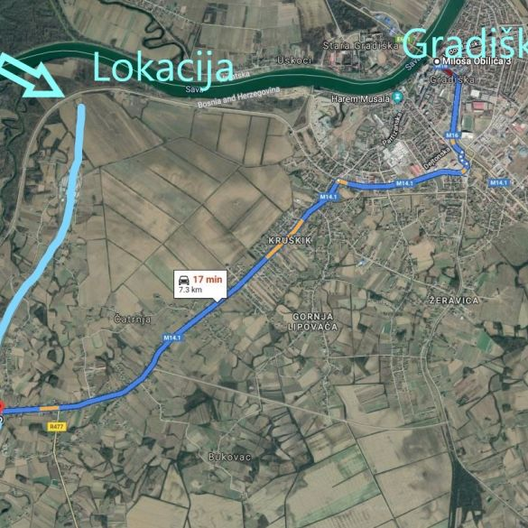 Svečano otvaranje radova na gradnji međudržavnog mosta preko  Save kod Gradiške (BiH)