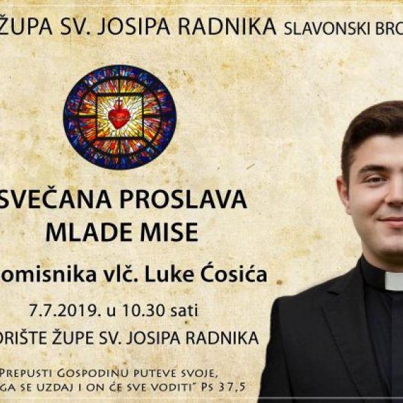 Vlč. Luka Ćosić u nedjelju, 7. srpnja proslavlja svoju mladu misu