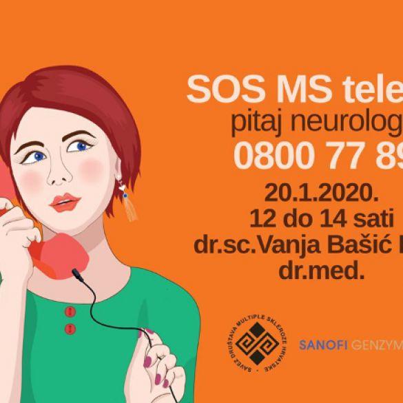 SAVEZ DRUŠTAVA MS HRVATSKE - Pokrenut projekt 'SOS MS telefon