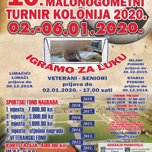 "HUMANITARNI TURNIR U MALOM NOGOMETU – ""KOLONIJA 2020"""